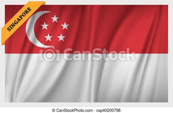 National flag of Singapore - csp40200798