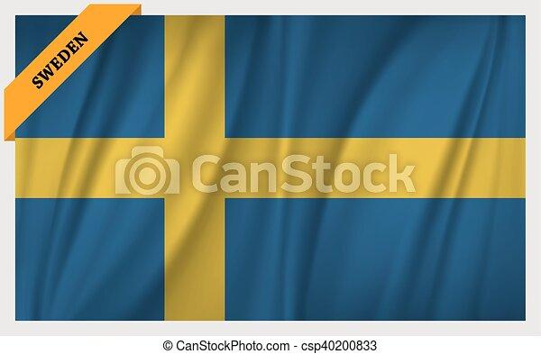National flag of Sweden - csp40200833