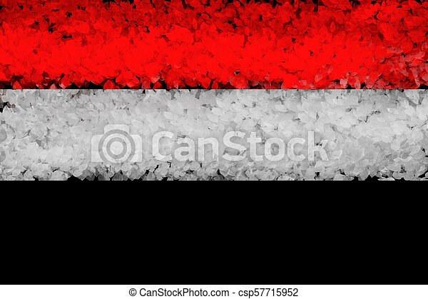 National flag of Syria from thick colored on a black background - csp57715952
