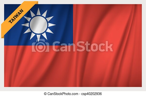 National flag of Taiwan - csp40202936