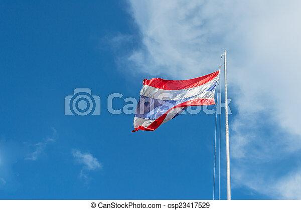 National flag of Thailand - csp23417529