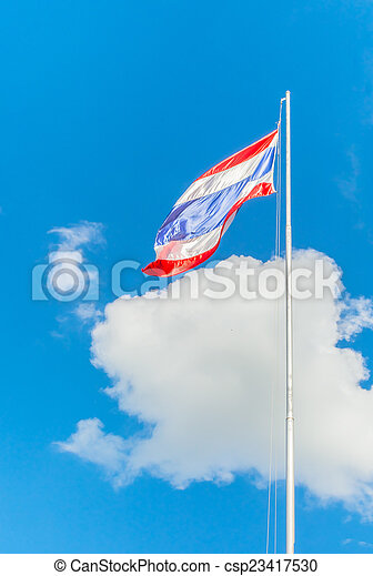 National flag of Thailand - csp23417530
