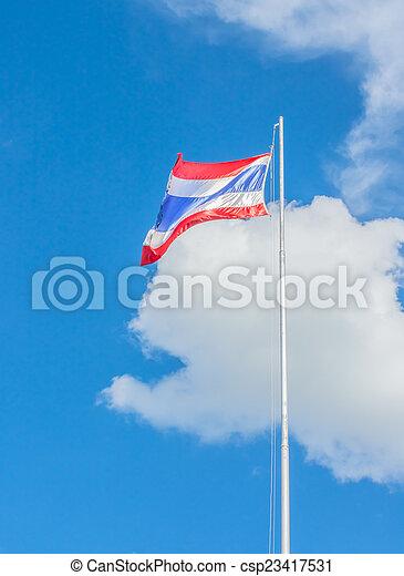 National flag of Thailand - csp23417531