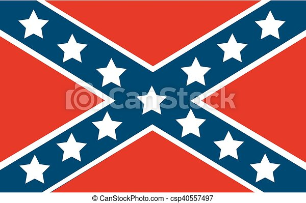 National flag of the Confederate - csp40557497