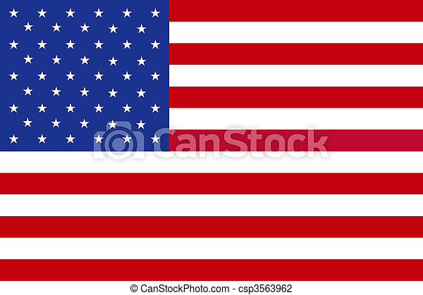 National Flag of the USA - csp3563962