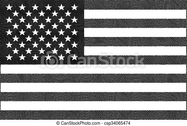 national flag of United States  - csp34065474