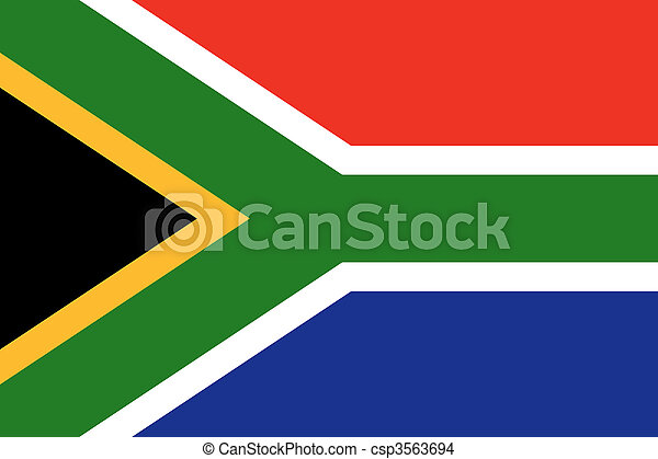 National Flag South Africa - csp3563694