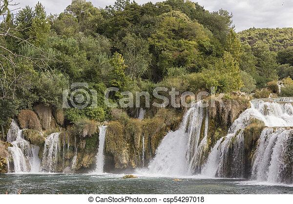 national, krka, park, wasserfälle - csp54297018