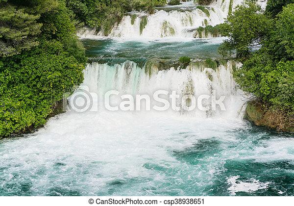 national, krka, park, wasserfälle - csp38938651
