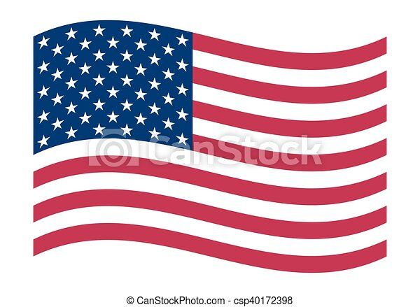 National political official US flag - csp40172398