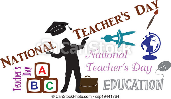 creative message national teachers day clip art vector search rh canstockphoto com  free holiday clipart for teachers