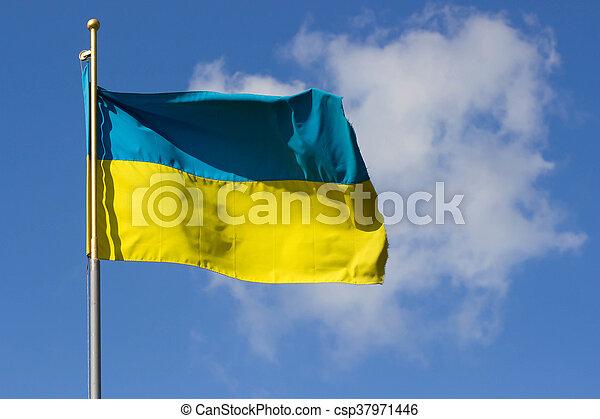 National yellow-blue flag of Ukraine - csp37971446