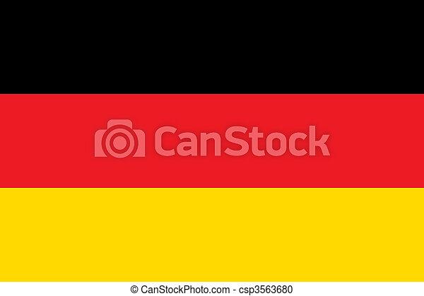 nationale, duitsland vlag - csp3563680