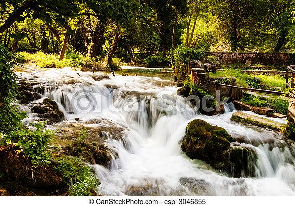 nationalpark, wald, krka, kroatien, wasserfälle - csp13046855