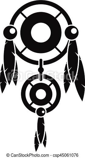 native american dreamcatcher icon simple style native american rh canstockphoto com native american victory day native american victories