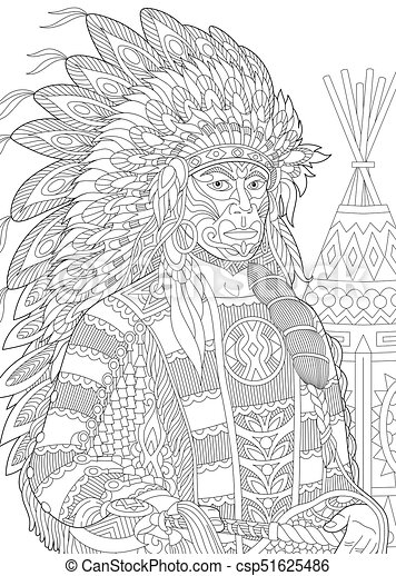 Native+American+Printable+Coloring+Pages+Adult | Native american ... | 470x321