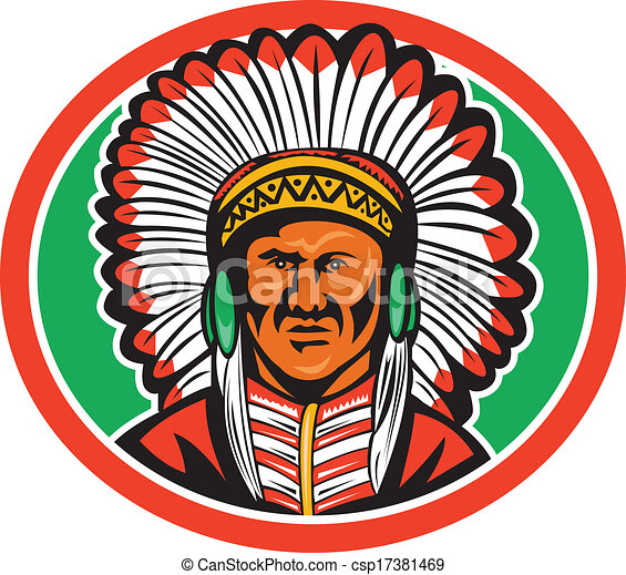Native American Indian Chief Headdress - csp17381469