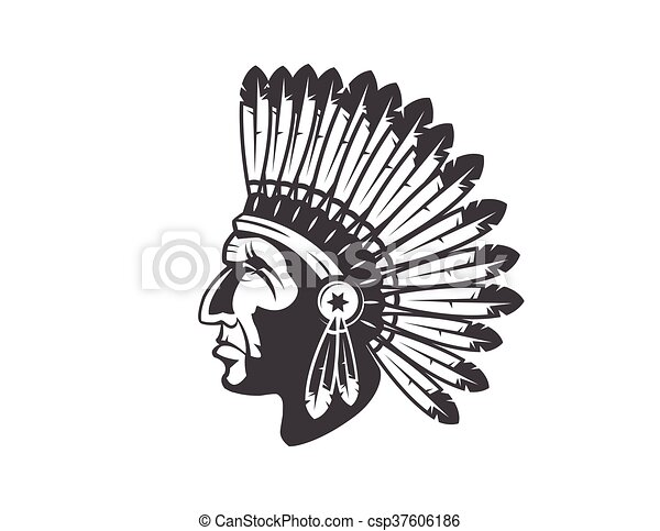 native american indian chief headdress - csp37606186