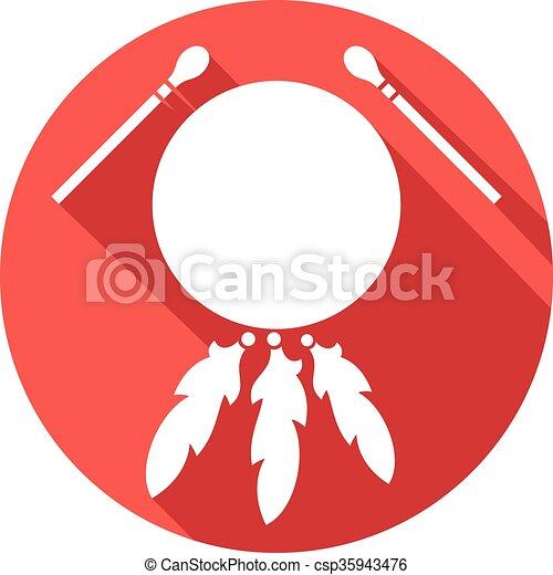 native american indian drum - csp35943476