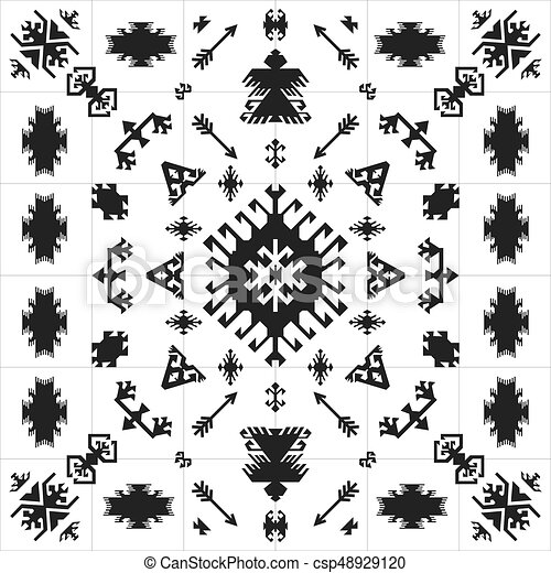 Native American Indian Ethnic Traditional Geometric Art With Retro Design Elements And Arrows Aztec Navajo Tribal Style,Easy Simple Easy Small Rangoli Designs For Diwali