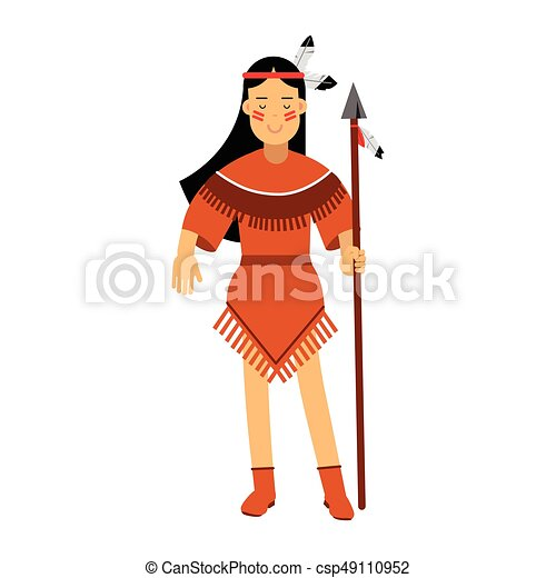 native american indian girl in traditional costume posing clipart rh canstockphoto co uk american indian chief clipart american indian clipart images