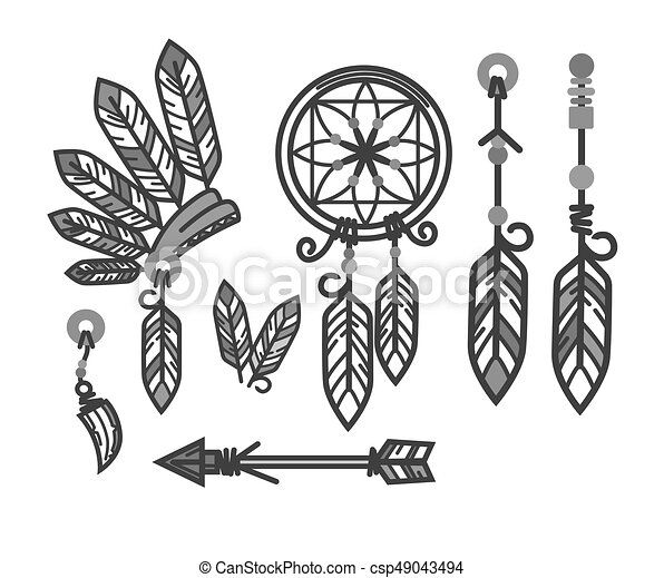 native american indians traditional culture tools symbols eps rh canstockphoto com Native American Horse Clip Art Native American Tee Pee Clip Art
