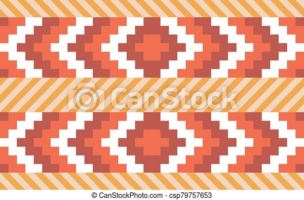 Native American Pattern Chevron And Diagonal Stripes. Native American  Ornament Chevron And Diagonal Stripes. Seamless Vector CanStock