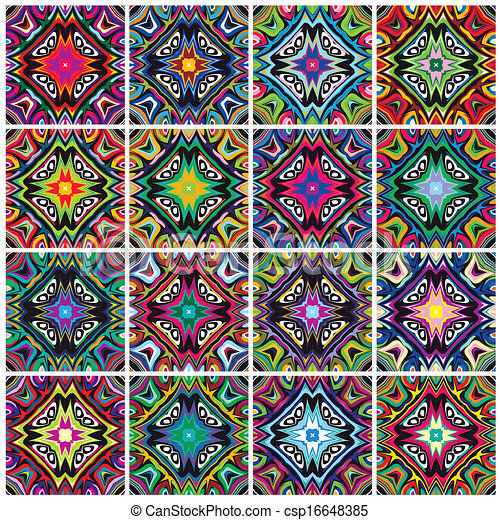 Native American Patterns Textures With Spiritual Symbols In