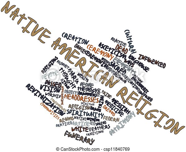 Abstract Word Cloud For Native American Religion With Stock - Native american religion