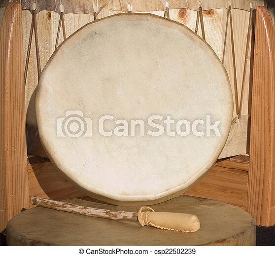 Native American Shaman Pow Wow hand - csp22502239