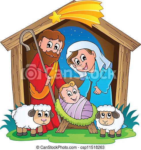 Natividad navideña 2 - csp11518263