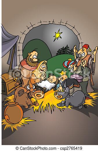natividad, cristiano, escena - csp2765419