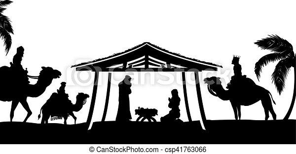 natividad, escena navidad - csp41763066
