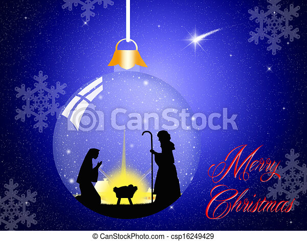 Escena de Navidad - csp16249429
