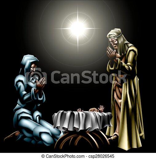 natividad, escena navidad - csp28026545