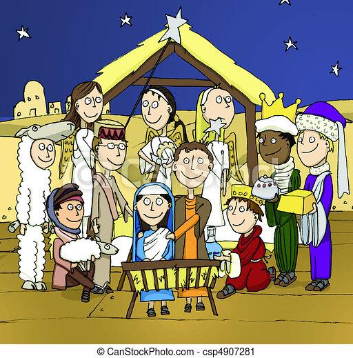 Natividad escolar - csp4907281