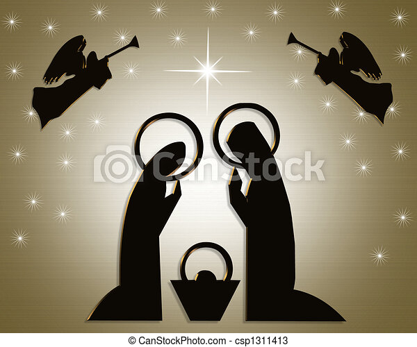 Natividad abstracta de Navidad - csp1311413