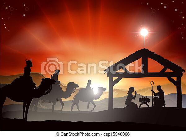 natividade, cena natal - csp15340066