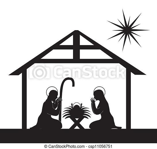 nativity 場面 - csp11056751