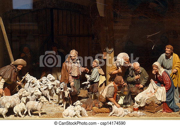 nativity 場面 - csp14174590