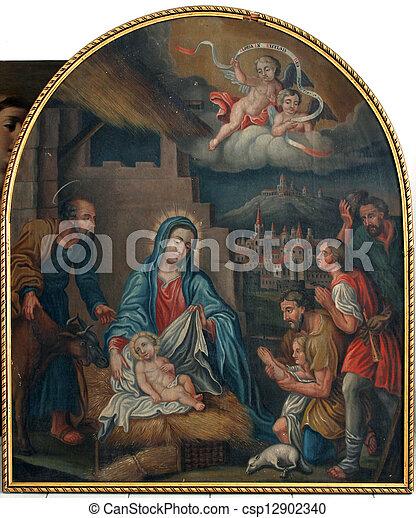 nativity 場面 - csp12902340