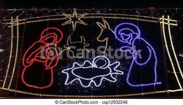 nativity 場面 - csp12932246