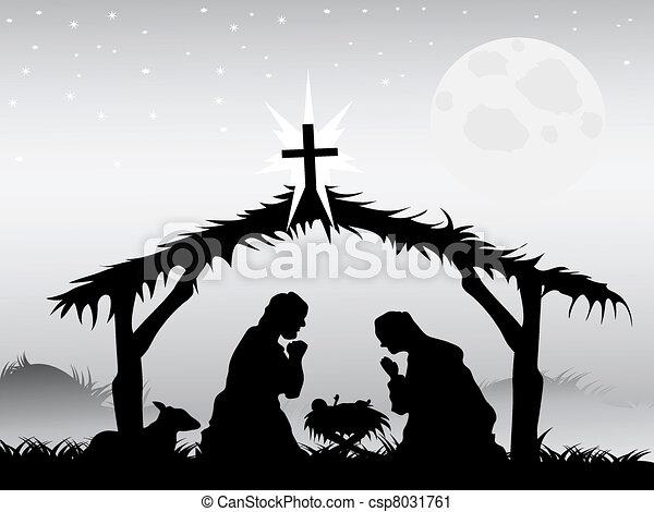 nativity 場面, ベクトル - csp8031761
