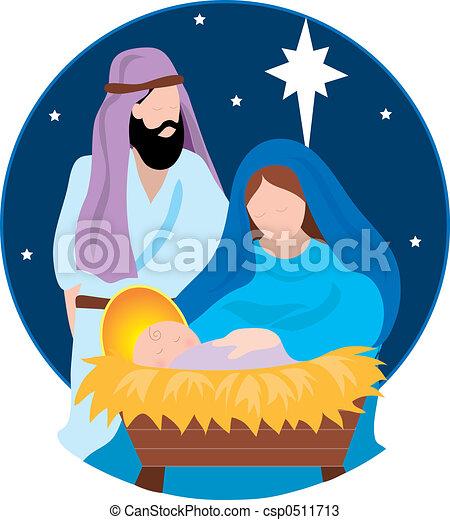 nativity 場面 - csp0511713