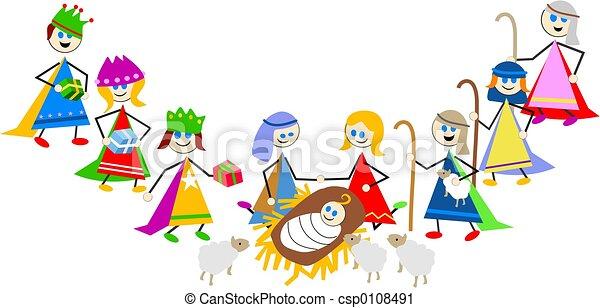 nativity, 子供 - csp0108491