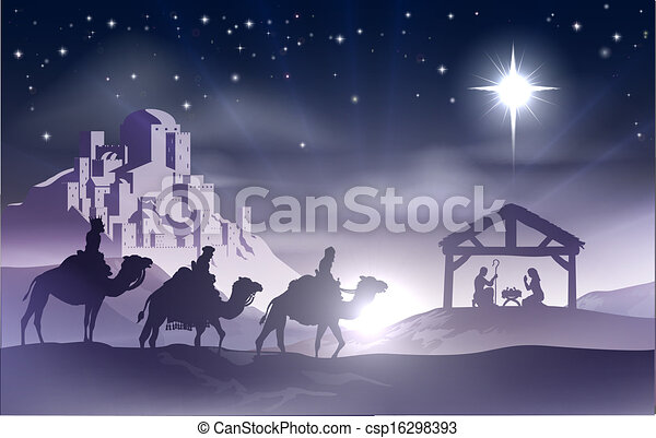Nativity Christmas Scene - csp16298393