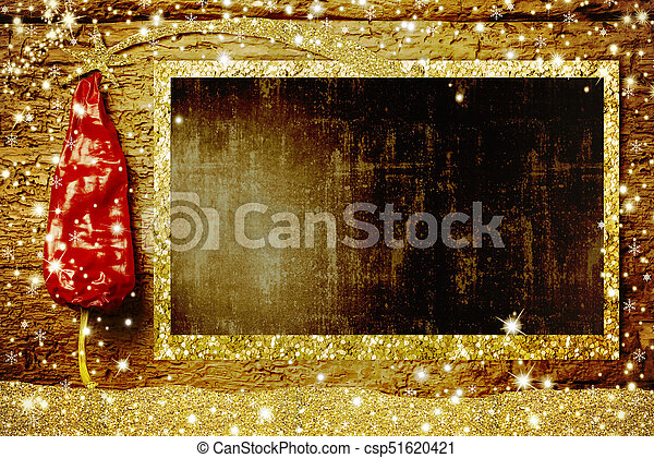 Nativity Menu Board Red Pepper As Christmas Tree And Empty Rustic To Write
