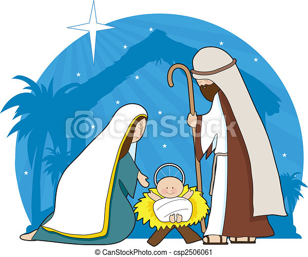 a nativity scene with the star of bethlehem in the clipart rh canstockphoto com bethlehem clipart black and white bethlehem star clipart free
