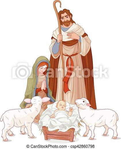 Nativity scene - csp42860798