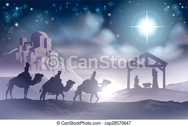 Nativity Scene - csp28570647